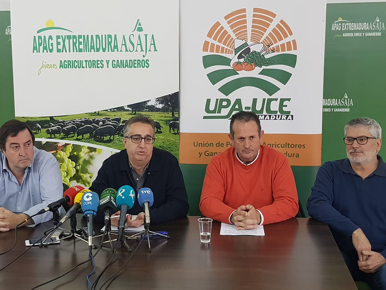 APAG Extremadura ASAJA, UPA-UCE y APAG-ASAJA Cáceres reclamarán soluciones ante los precios ruinosos
